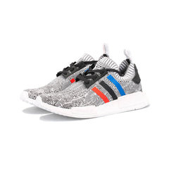 adidas Originals - NMD R1 Primeknit 'Tri-Color' (Light Grey/White/Red-Black-Royal Stripes)