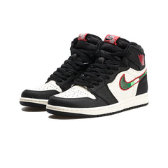 Air Jordan 1 Retro High OG (Black/Varsity Red-Sail)