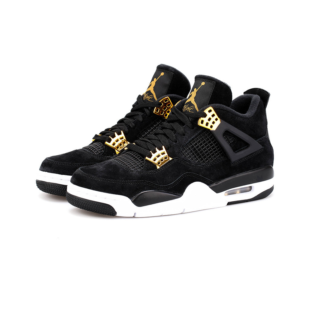the latest c7602 c5961 Air Jordan 4 Retro 'Royalty' (Black/Metallic Gold-White)