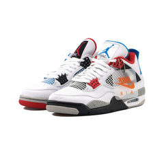 Air Jordan 4 Retro SE (White/Military Blue-Fire Red)