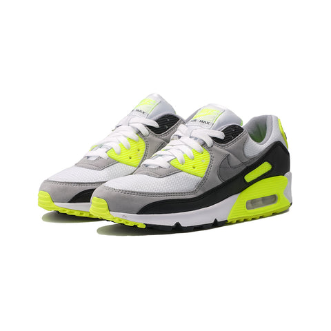 Nike - Air Max 90 (White/Particle Grey-Volt-Black)