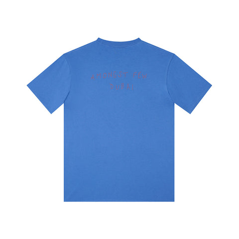 amongst few - Hand Embroidered T-Shirt (Blue)