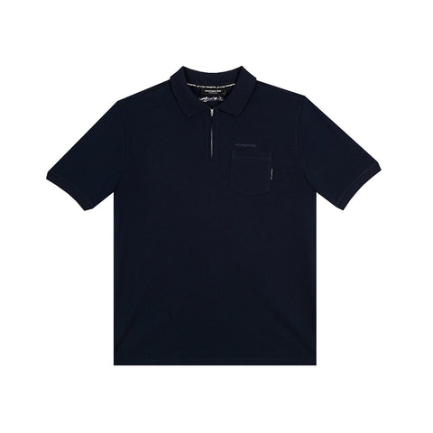 amongst few - Zipper Polo Shirt (Navy)