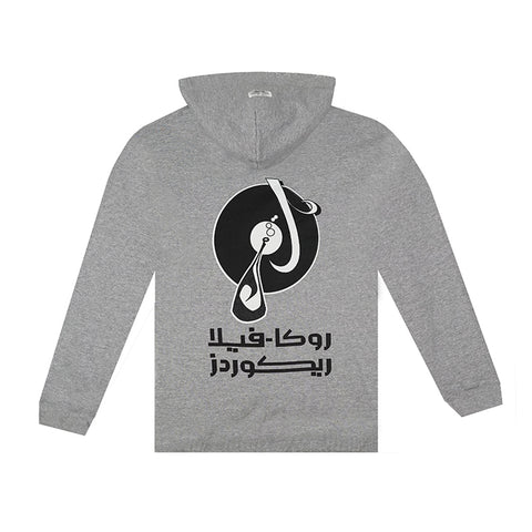 amongst few x Reasonable Doubt - Arabic Logo Flip Hoodie (Grey)