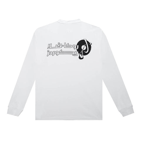amongst few x Reasonable Doubt - Arabic Vinyl Longsleeve (White)