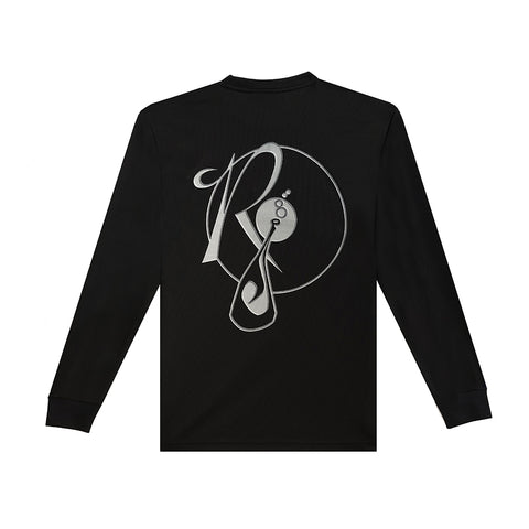 amongst few x Reasonable Doubt - Outline Logo Longsleeve (Black)