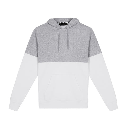 amongst few - Colour Block Hoodie (Heather/White)