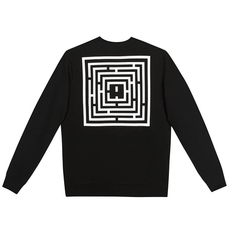 amongst few - Maze Sweater (Black)