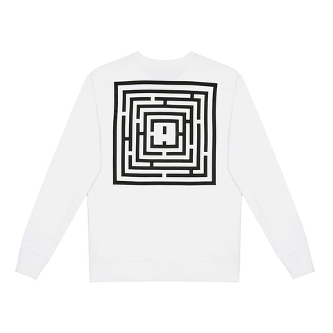 amongst few - Maze Sweater (White)