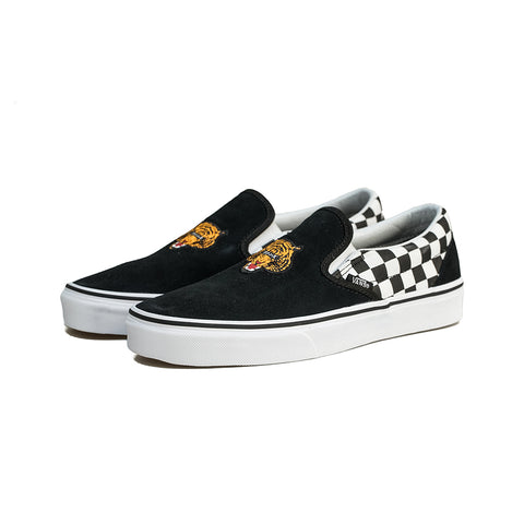 Vans - Classic Slip-ON Tiger Check (Black/True)