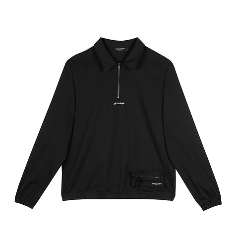 amongst few -  Sport Quarter Zip Jacket (Black)