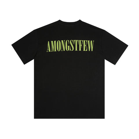 amongst few - Serif T-Shirt (Black/Green)