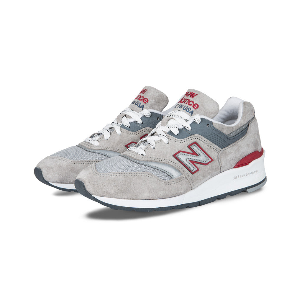 san francisco 69926 45873 New Balance - M997CGR Made in the USA (Grey Red White) – amongst few