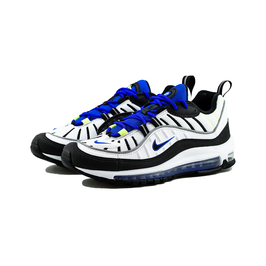 san francisco ed742 2ae5f Nike - Air Max 98 'Sprite' (White/Black-Racer Blue-Volt) – amongst few