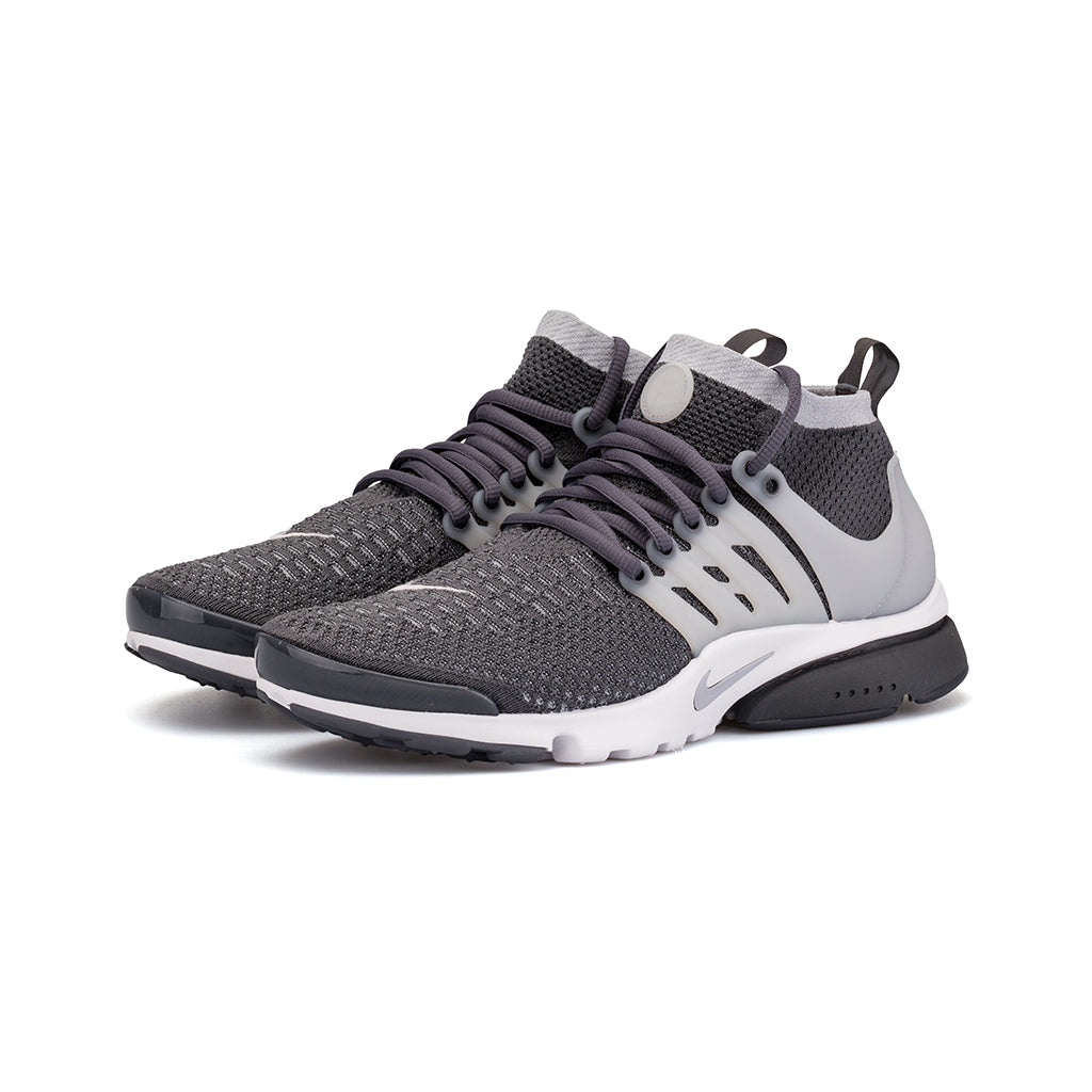 Nike - Air Presto Flyknit Ultra (Dark Grey/Wolf Grey-White-Green Glow)