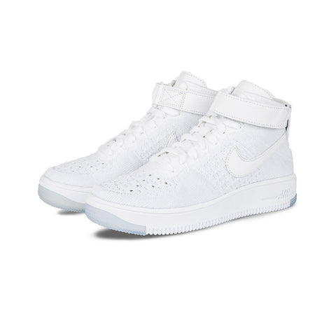 Nike - W AF1 Flyknit (White/White-Pure Platinum)