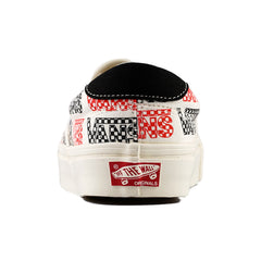 Vans - OG Slip-On 59 LX Canvas (Racing Red/Logo Checkboard)
