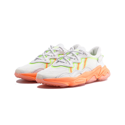 adidas Originals - Ozweego W (Crystal White/Signal Orange/Signal Green)