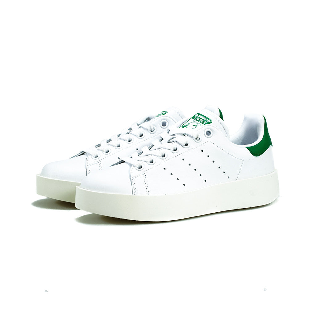 size 40 ab6df ca6e0 adidas Originals - Stan Smith Bold W (White/White/Green)
