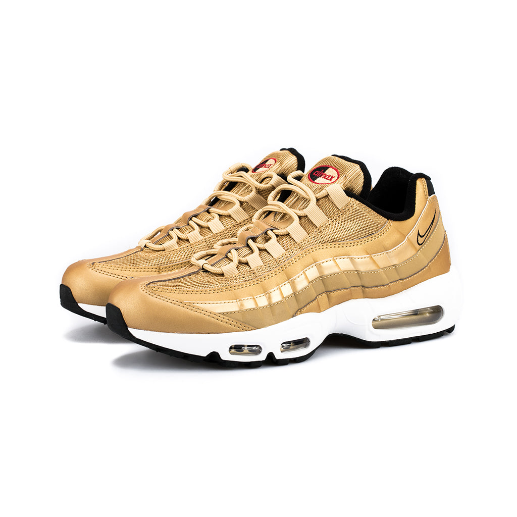 the latest 65a44 2bd81 Nike - Air Max 95 Premium QS (Metallic Gold Black White Varsity Red) –  amongst few