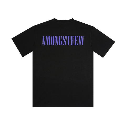 amongst few - Serif T-Shirt (Black/Purple)