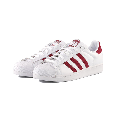 adidas Originals - Superstar (Cloud White/Collegiate Burgundy/Cloud White)