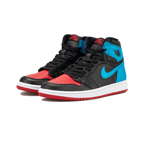 WMNS Air Jordan 1 High OG (Black/DK Powder Blue-Gym Red)