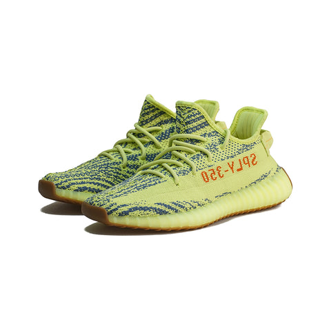 adidas - Yeezy BOOST 350 V2 (Semi Frozen Yellow/Raw Steel/Red)