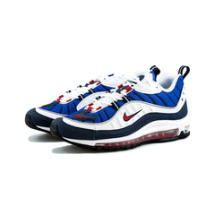 Nike - Air Max 98 (White/University Red-Obsidian)