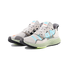 adidas - ZX 4000 4D (Grey One/Solar Red/Bright Cyan)