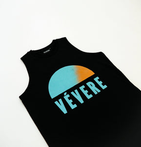 Black Sunset Sleeveless Tee - Vevere