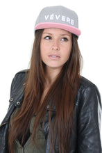 Load image into Gallery viewer, Napoli Grey & Pink Snapback Hat - Vevere