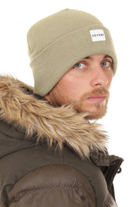 London Khaki Slouch Beanie Hat - Vevere
