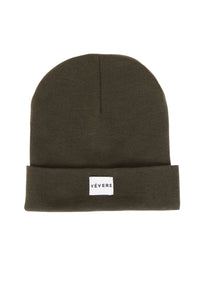 London Olive Green Slouch Beanie Hat - Vevere