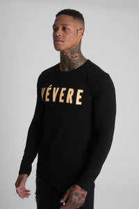 Black & Peach Long Sleeve T-Shirt - Vevere