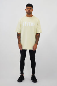 Cream Oversized T-Shirt - Vevere