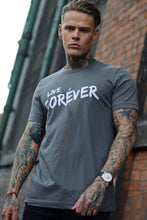 Load image into Gallery viewer, Dark Grey Live Forever T-Shirt - Vevere
