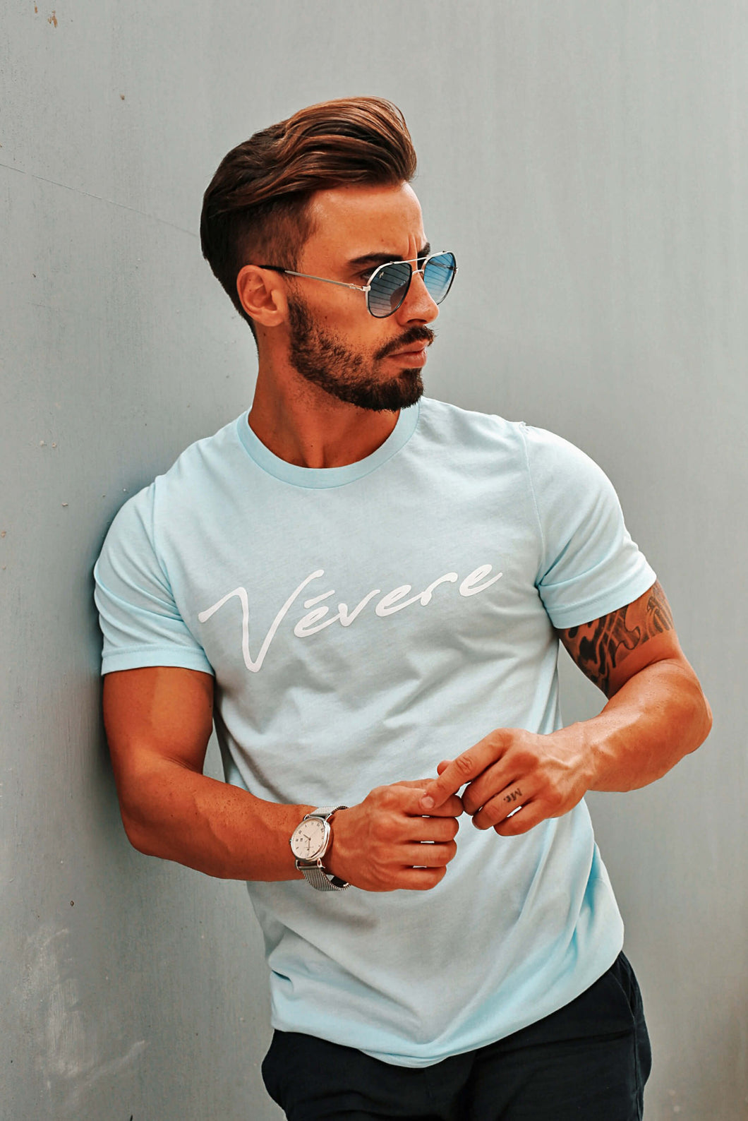 Ischia Ice Blue T-Shirt - Vevere