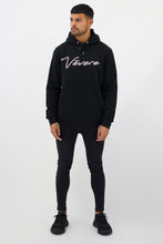 Load image into Gallery viewer, Black & Maroon Tessio Hoodie - Vevere