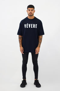 Navy Blue Oversized T-Shirt - Vevere