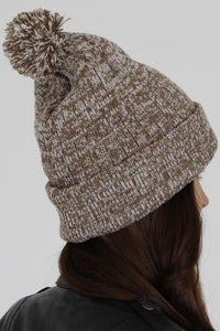 Vicenza Gold & White Bobble Hat - Vevere