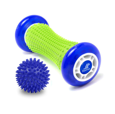 Foot Massage Roller and Hard Spiky Ball Set