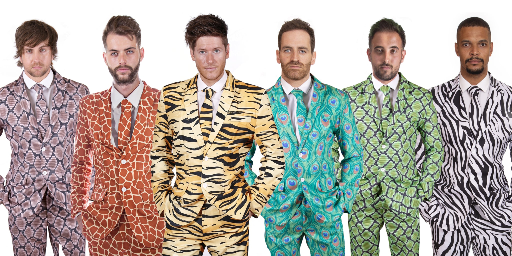Animal Print Stag Suits
