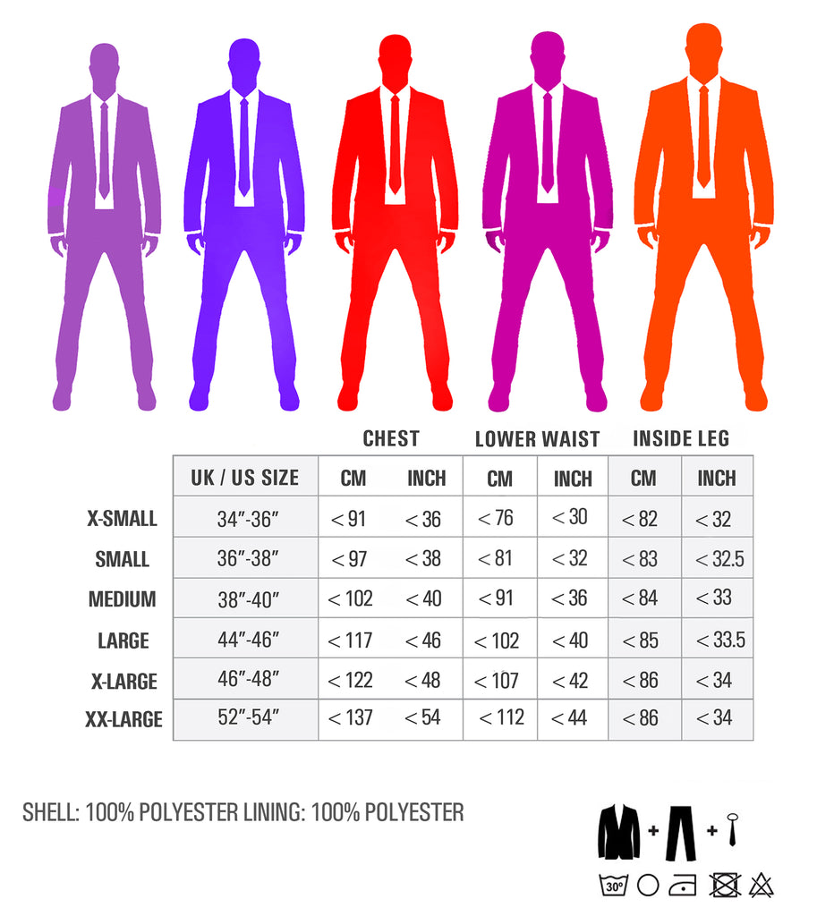 Stag Suits Size Guide