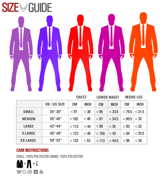 Size Guide and Care Instructions
