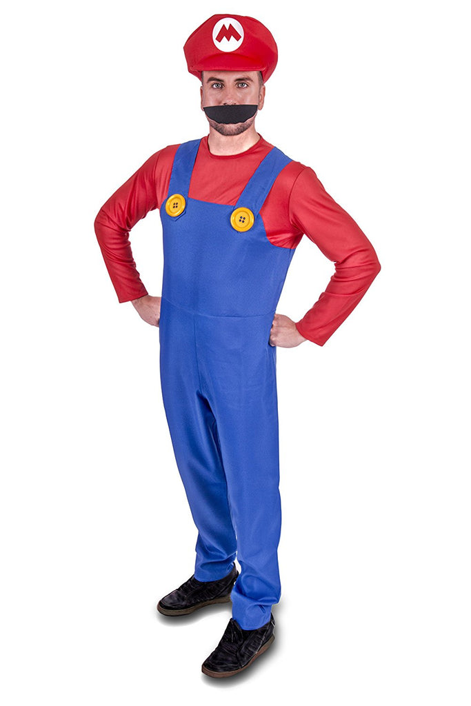 Super Plumber Red Brothers Adult Fancy Dress Costume - Stag Suits