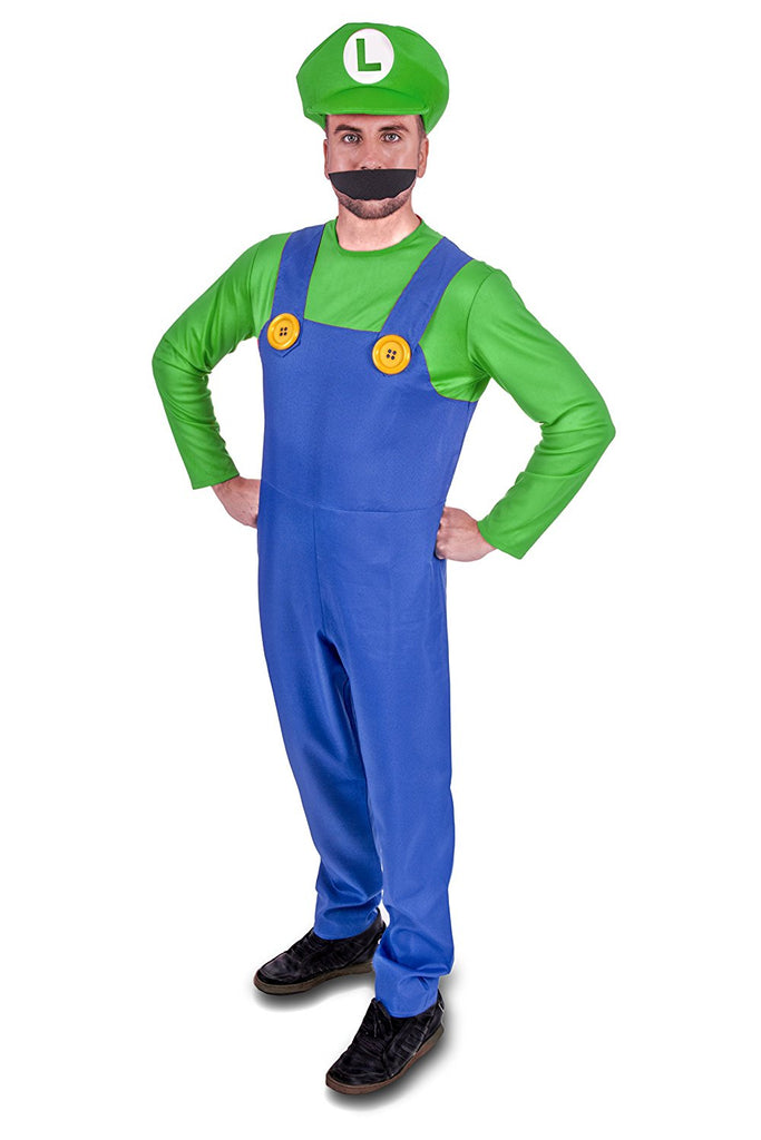 Super Plumber Green Brothers Adult Fancy Dress Costume - Stag Suits