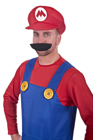 Super Plumber Red Brothers Adult Fancy Dress Costume