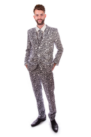 Black and White Stars Stag Suit