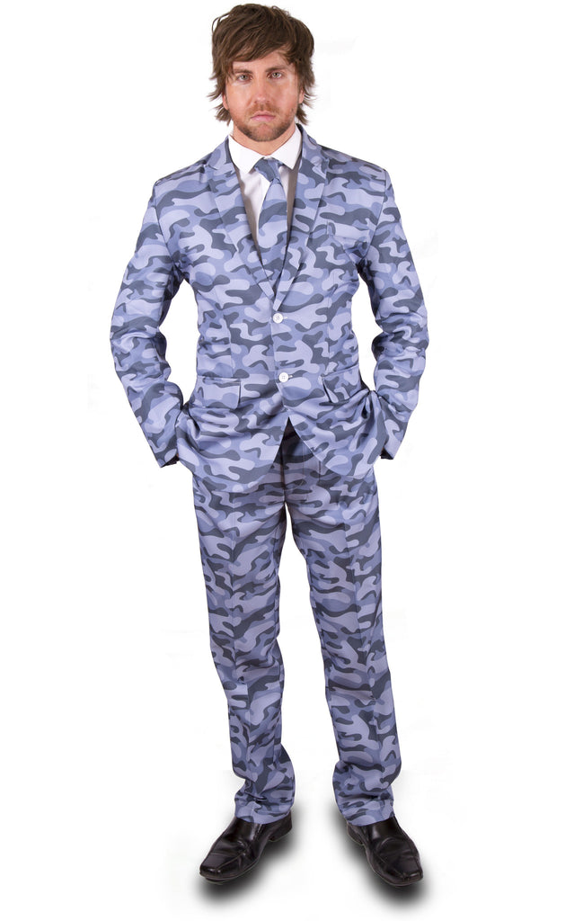 Camouflage Blue Army Stag Suit - Stag Suits